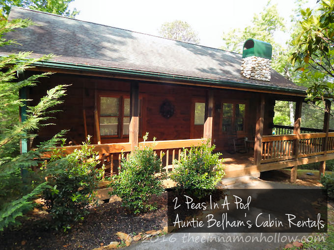 Smoky Mountains - 2 Peas In A Pod - Auntie Belham's Cabin Rentals