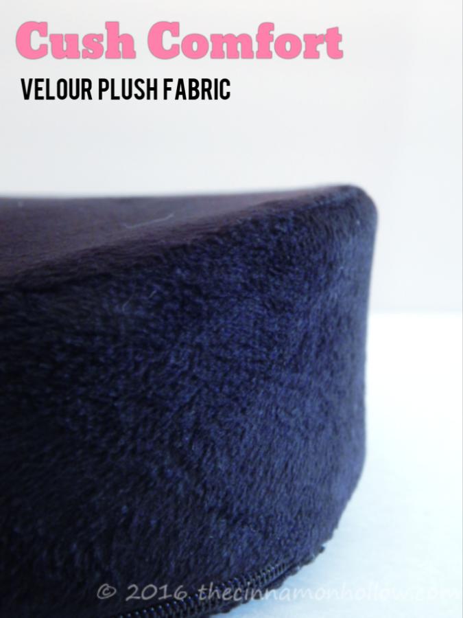 Cush Comfort Seat Cushion Velour Cover