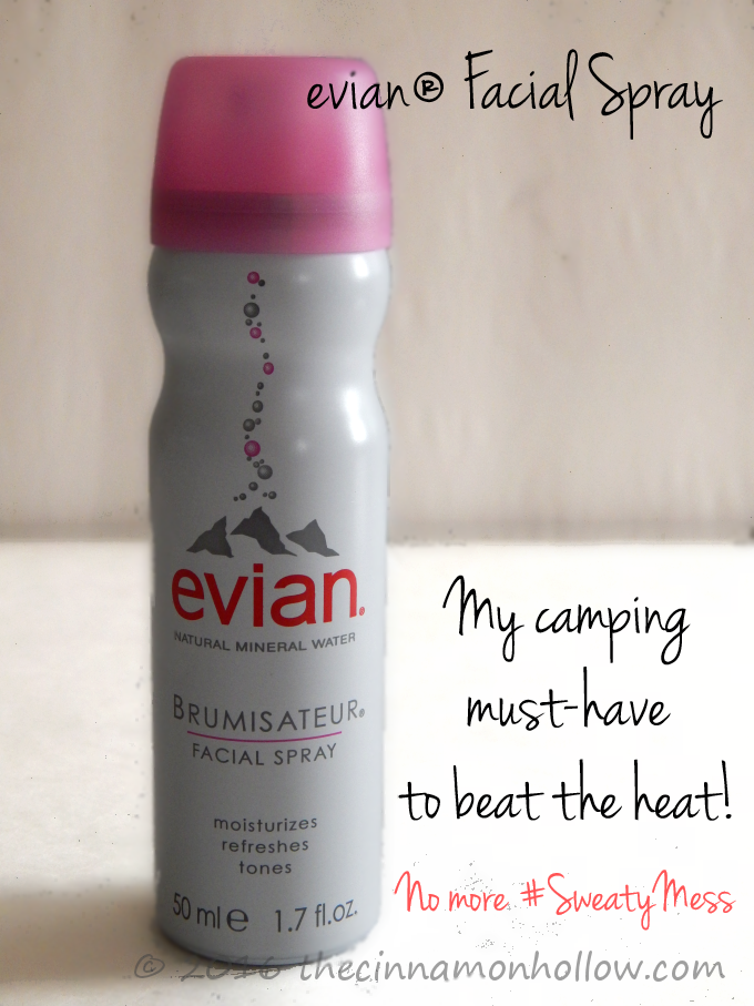 Camping Tips To help keep you cool: evian Facial Spray