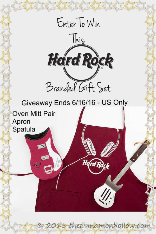 Hard Rock Cafe branded gift set