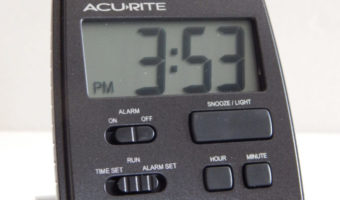 AcuRite Portable Alarm Clock