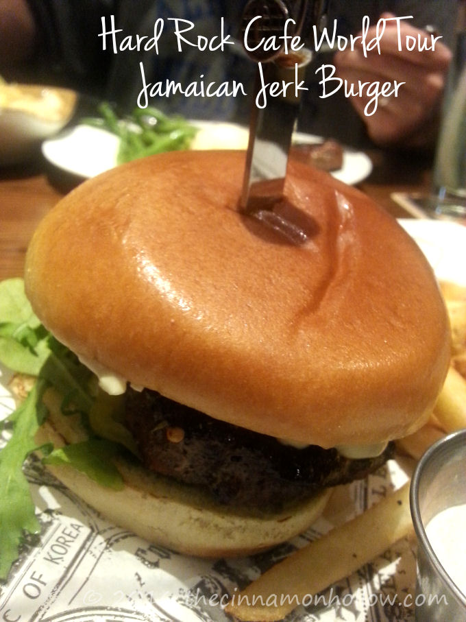 Hard Rock Cafe World Burger Tour Jamaican Jerk Burger