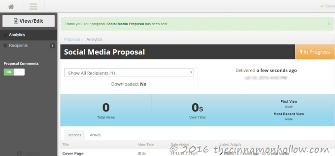 Proposable: Internet Marketing Tool
