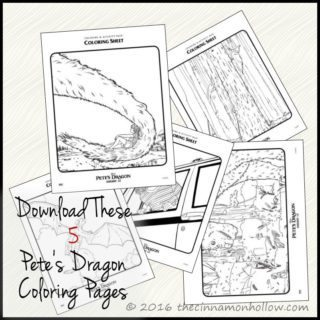 Download These Cute Pete's Dragon Coloring Sheets