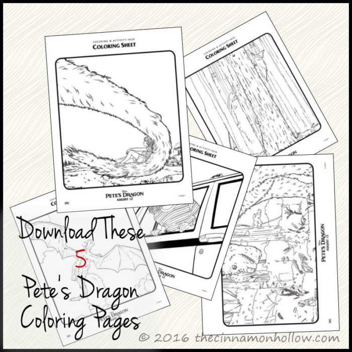 Download These Cute Petes Dragon Coloring Sheets