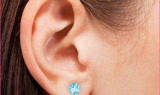 KidsGold -14k For Kids Genuine Birthstone Earrings
