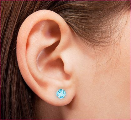 KidsGold -14k For Kids Genuine Birthstone Earrings