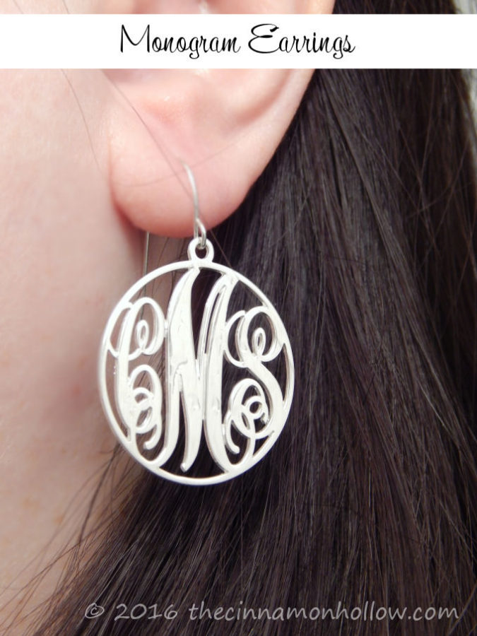 Personalized Jewelry - Monogram Earrings