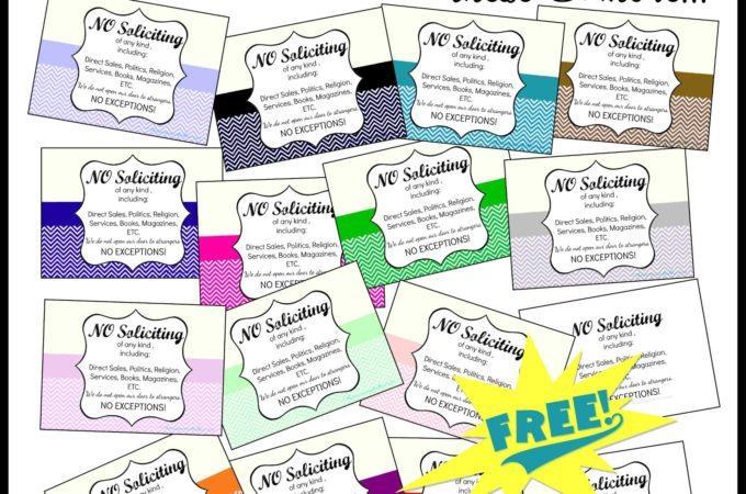 Free Printable No Soliciting Signs