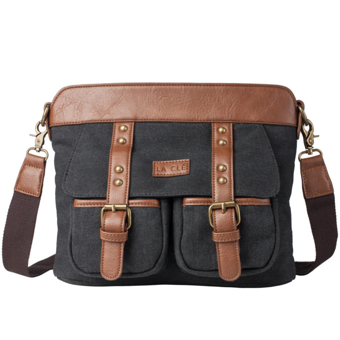 La Clé LA 035 Canvas Rivet Crossbody Satchel BagThe original price is $32.99 but you can get it $25.99!!! https://www.amazon.com/dp/B01KJ7DL9K?m=ALX1KCC7F58Z9&ref_=v_sp_widget_detail_page Code: CMLC0035