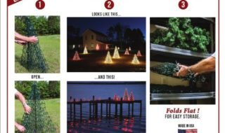 Decorate Your Outdoor Area Easier With These Christmas Trees!