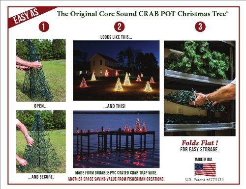 Crab Pot Christmas Trees Outdoor Holiday Decorations