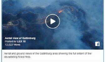 Gatlinburg, Tn fire - courtesy of LEX 18