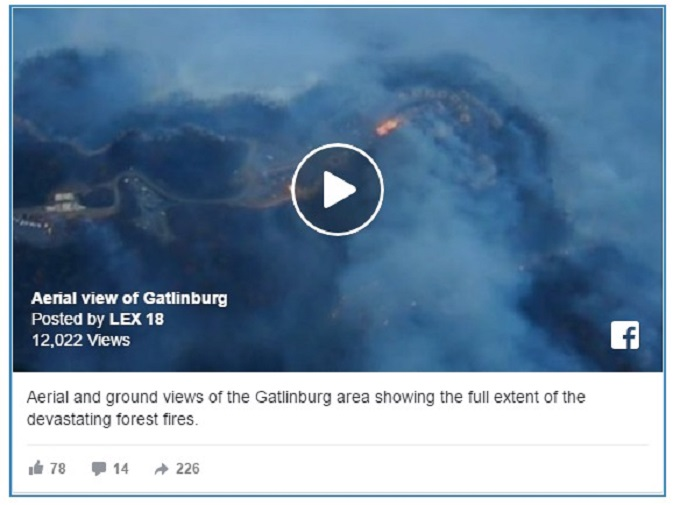Fires Rage In Gatlinburg And The Smoky Mountains