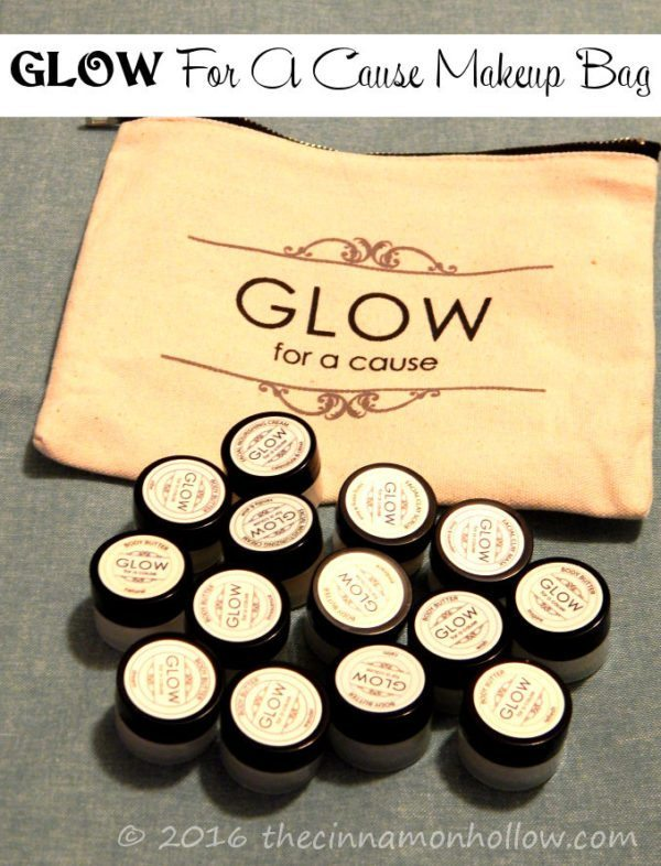 GLOW for a cause TRY IT ALL in a BAG makeup bag