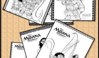 Download These Fun Moana Coloring Pages