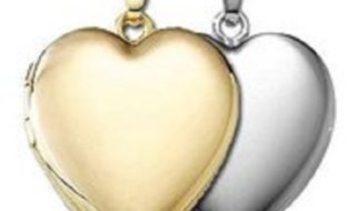 Build Your Own Sterling Silver 2-Picture Heart Locket from Pictures On Gold!