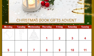 Interactive Book Themed Christmas Advent Calendar
