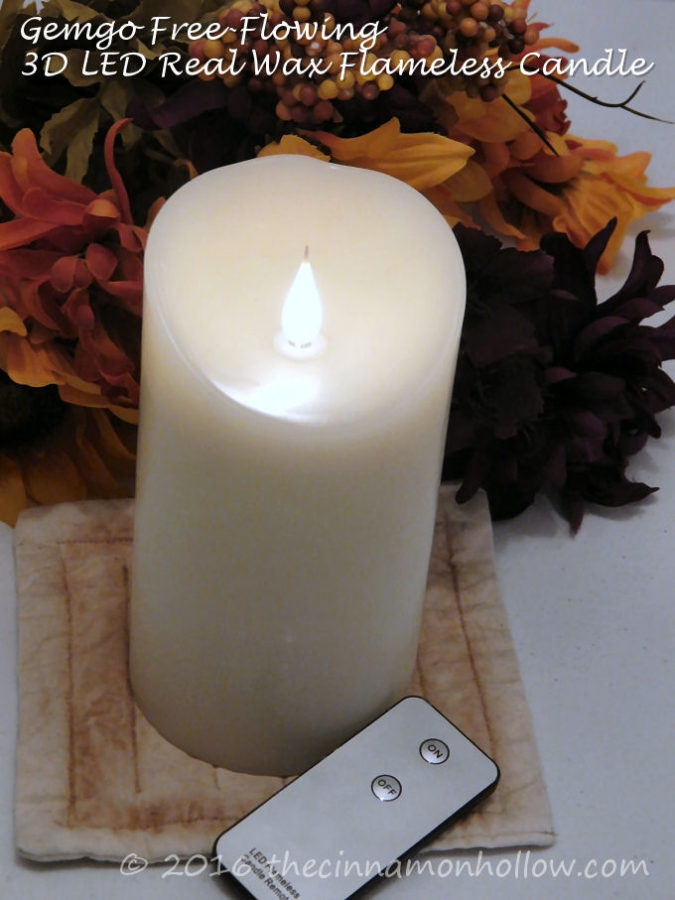 Gemgo Free-Flowing 3D LED Real Wax Flameless Candles with Timer