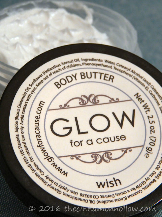 GLOW for a cause: Wish Body Butter