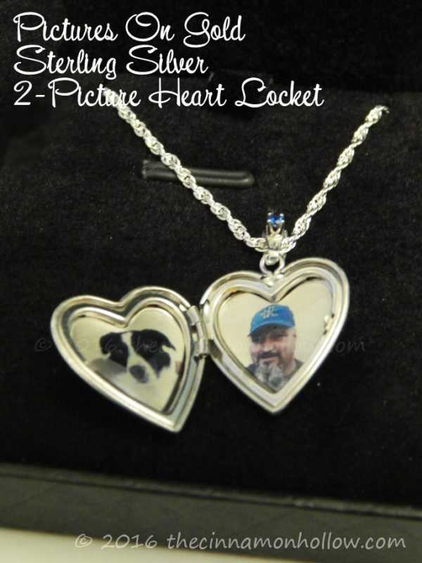 Pictures On Gold Sterling Silver 2-Picture Heart Locket