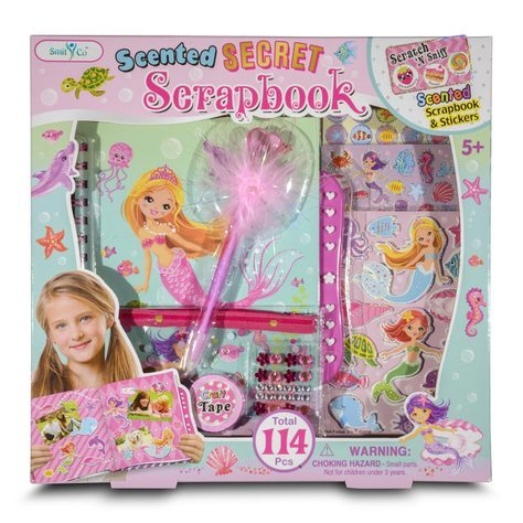 Gifts For Girls - SmitCo LLC - Mermaid themed scrapbook kit - valentine gift ideas