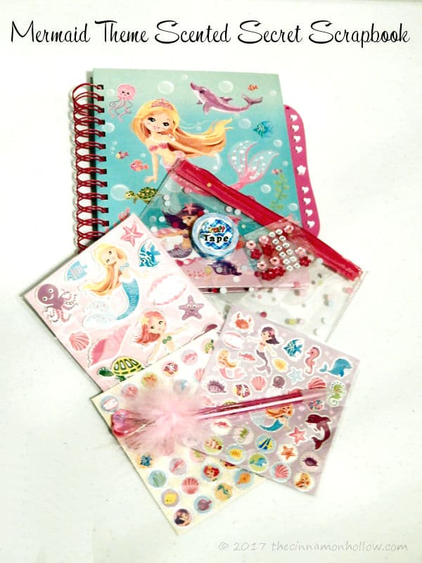 Mermaid Theme Scented Secret Scrapbook