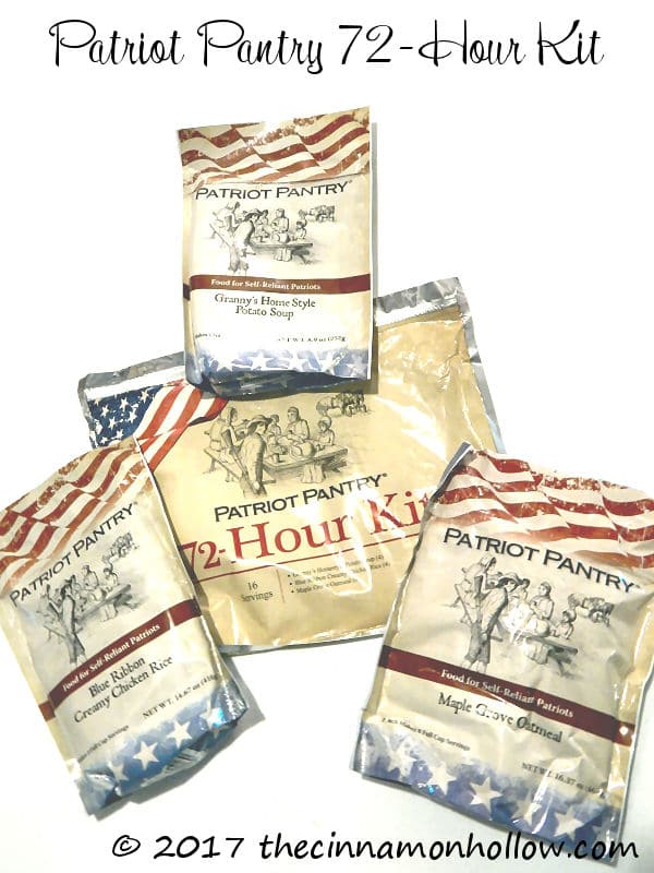 Patriot Pantry 72-Hour Survival Kit: MyPatriotSupply.com Review