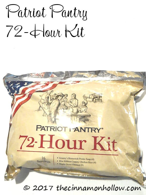 Patriot Pantry 72-our Survival Kit