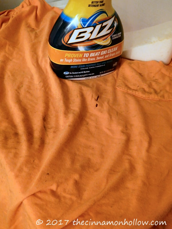 Get Cleaner Work Clothes With Biz Stain & Odor Eliminator