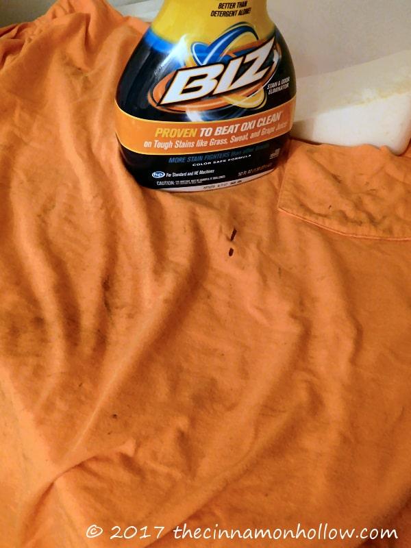 Get Cleaner Work Clothes With Biz Stain & Odor Eliminator