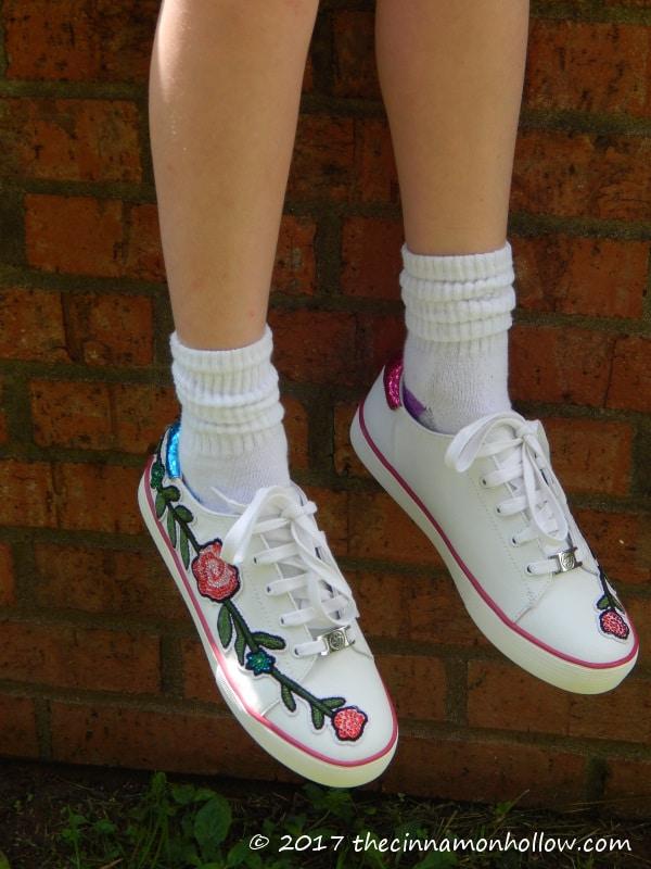 Floral Applique Shoes from KidsShoes.com