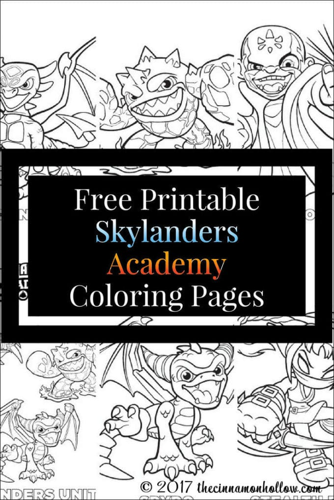 Free printable Skylanders Academy Coloring Pages for you to download