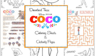 Print These Cute Disney•Pixar's Coco Coloring Pages