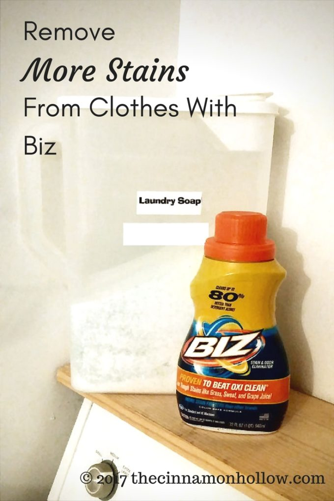 Remove Stains From Clothes With Biz Stain And Odor Remover