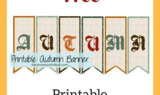 Download Our Free Printable Autumn Bunting!