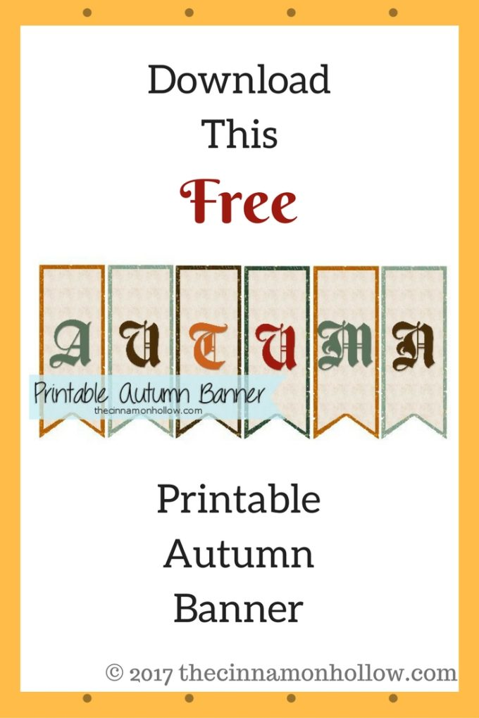 Free Printable Autumn Banner Download