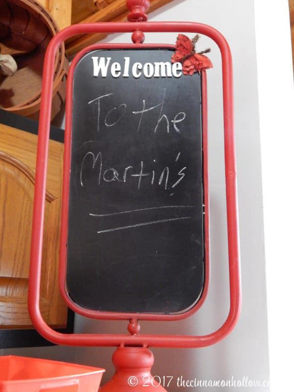 Hapey Memories Cabin Welcome Sign