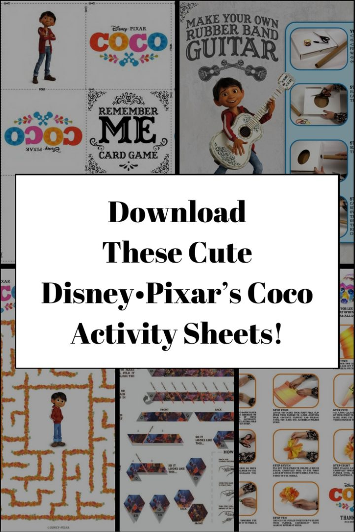 Download These Cute Disney•Pixar's Coco Activity Sheets!
