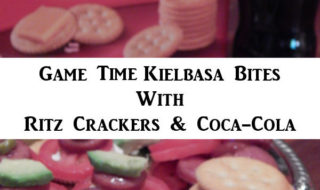 Game Time Kielbasa Bites With Ritz Crackers And Coca-Cola