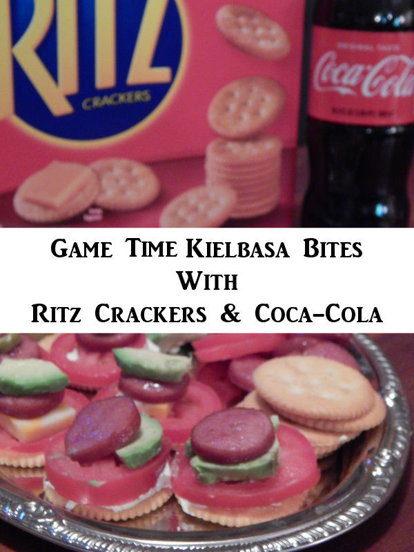 Game Time Appetizer: Game Time Kielbasa Bites With Ritz Crackers And Coca-Cola
