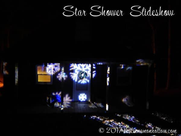 Christmas Decorations Ideas: Star Shower Window Wonderland Displayed Outdoors