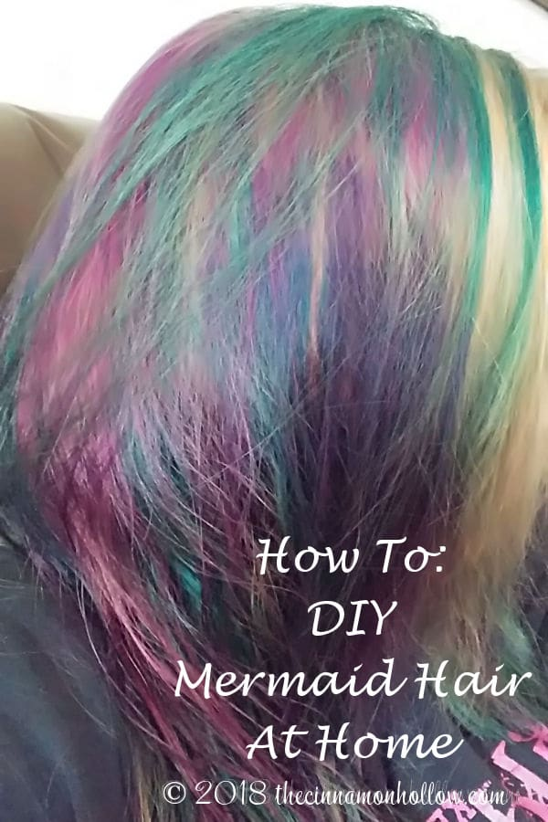 Mermaid Hair. How I Bleached And Colored My Hair At Home.