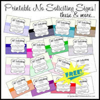 Download These Printable No Soliciting Signs