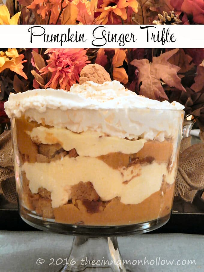 Enjoy This Pumpkin Ginger Trifle Recipe This Fall!