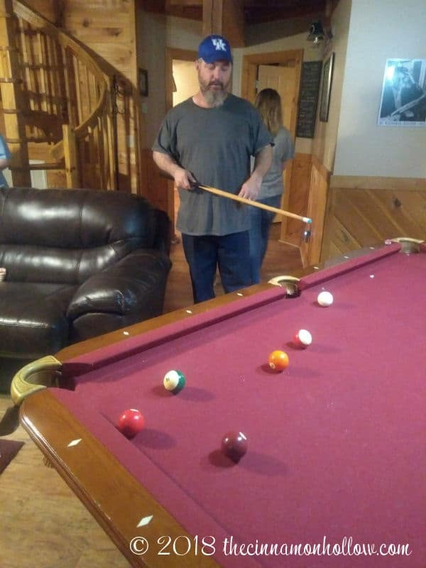 The Summit Cabin Pool Table