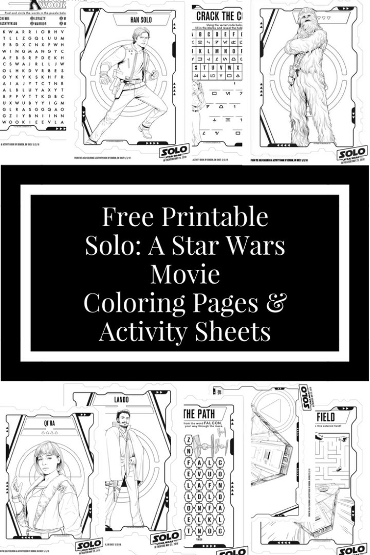 Free Printable Han: A Star Wars Movie Coloring Pages & Activity Sheets