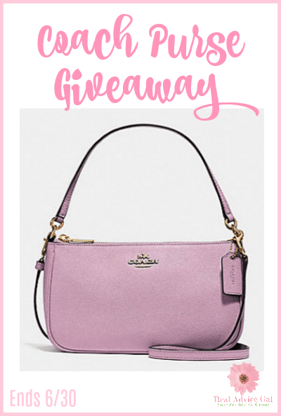 Enter To Win This Gorgeous Top Handle Coach Purse