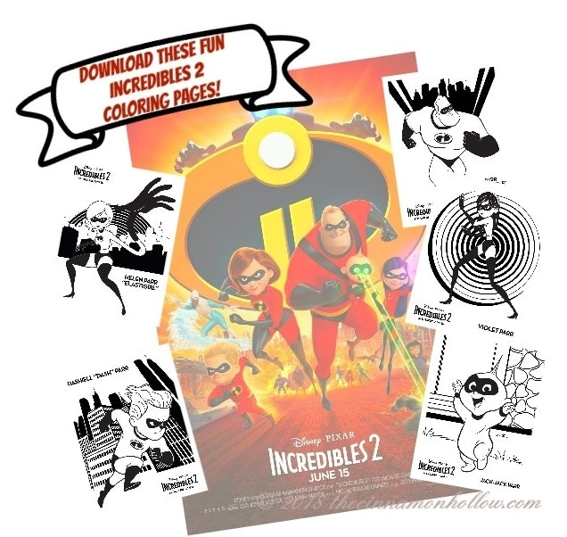 Download These Fun Incredibles 2 Coloring Pages