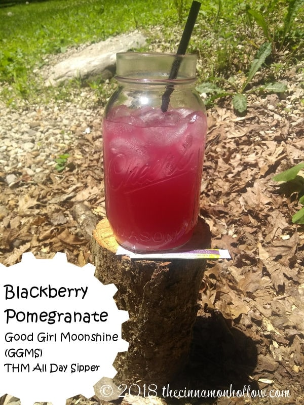 Blackberry Pomegranate Good Girl Moonshine. THM Alcohol Free Sipper